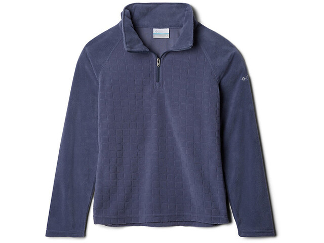 Columbia Glacial II Pull Polaire Motif Demi-zip Fille, nocturnal drop needle/nocturnal